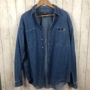 Polo Jeans Ralph Lauren Denim Button Up Shirt